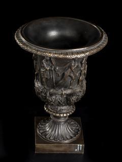 Grand Tour Sculptures Pair Bronze Medici Vases After The Antique - 1951206