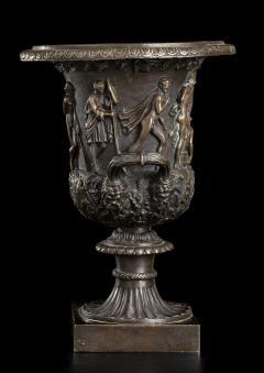 Grand Tour Sculptures Pair Bronze Medici Vases After The Antique - 1951209