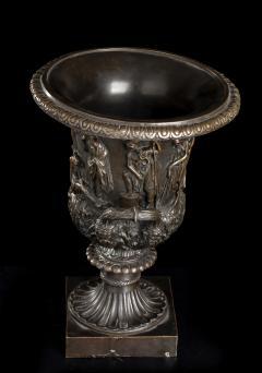 Grand Tour Sculptures Pair Bronze Medici Vases After The Antique - 1951211