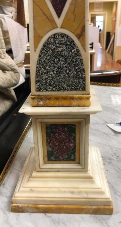 Grand Tour Specimen Marble and Porphyry Obelisk 19th Century - 1262172