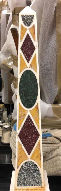 Grand Tour Specimen Marble and Porphyry Obelisk 19th Century - 1262174