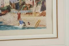 Grand Tour Watercolor of an Italian Coastal Scene - 1083740