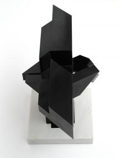 Graphic Abstract Geometric Bronze Sculpture - 343028