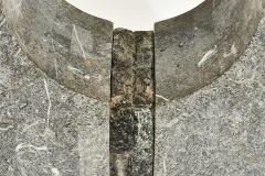 Graphic Tessellated Marble Console Table 1980 - 2055033
