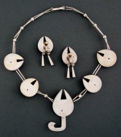 Graziella Laffi Set of Sterling Silver Necklace and Earrings Graziella Laffi - 2036838