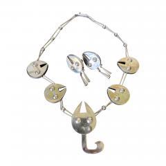 Graziella Laffi Set of Sterling Silver Necklace and Earrings Graziella Laffi - 2038665