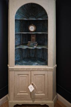 Great Chimney Cupboard With Original Paint Finish   468771
