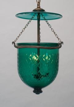 Green Diamond Cut Bell Jar Lantern - 1198645