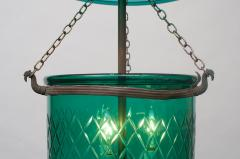 Green Diamond Cut Bell Jar Lantern - 1198646