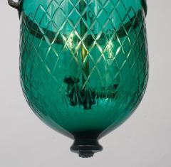 Green Diamond Cut Bell Jar Lantern - 1198648