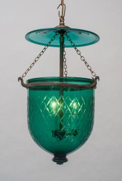 Green Diamond Cut Bell Jar Lantern - 1198650
