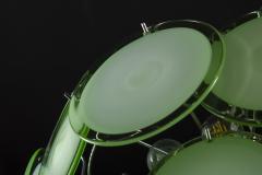 Green Disc Murano Chandelier 1970s - 2042058
