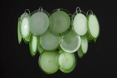 Green Disc Murano Chandelier 1970s - 2042062