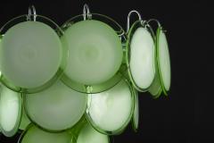 Green Disc Murano Chandelier 1970s - 2042065