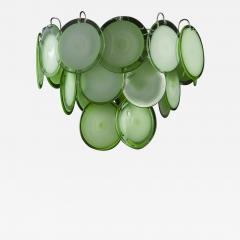 Green Disc Murano Chandelier 1970s - 2044635