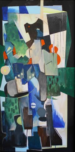 Greg Mathias Cubist Painting - 1224905