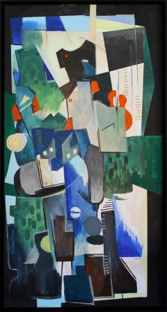 Greg Mathias Cubist Painting - 1224906