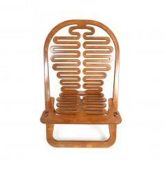 Gregg Fleishman Rare Gregg Fleishman Prototype European Birch Lumbarest Chair  - 829867