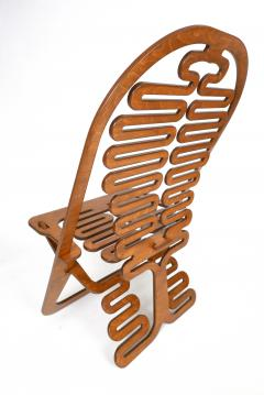Gregg Fleishman Rare Gregg Fleishman Prototype European Birch Lumbarest Chair  - 829869