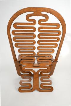 Gregg Fleishman Rare Gregg Fleishman Prototype European Birch Lumbarest Chair  - 829873