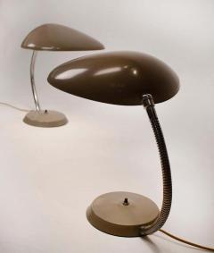 Greta Magnusson Grossman Museum Quality Pair of Greta M Grossman Cobra Lamps Ralph O Smith Labels Intact - 1546345