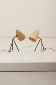 Greta Magnusson Grossman Pair of Grasshopper Table Lamps by Greta Grossman for Ralph O Smith US 1950s - 1097033