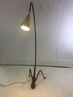 Greta Magnusson Grossman SUPERB MID CENTURY MODERNIST FLOOR LAMP IN THE MANNER OF GRETA GROSSMAN - 852840