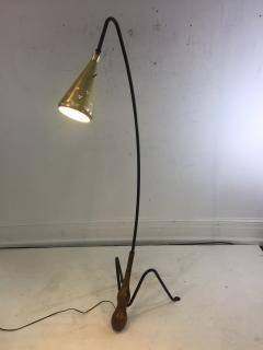 Greta Magnusson Grossman SUPERB MID CENTURY MODERNIST FLOOR LAMP IN THE MANNER OF GRETA GROSSMAN - 852841