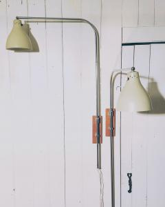 Greta Von Nessen Greta von Nessen Pair of Adjustable NS 945 Swing Arm Wall Lamps Circa 1950 - 1246979