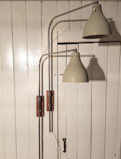 Greta Von Nessen Greta von Nessen Pair of Adjustable NS 945 Swing Arm Wall Lamps Circa 1950 - 1246982