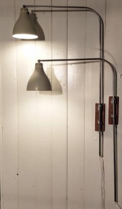 Greta Von Nessen Greta von Nessen Pair of Adjustable NS 945 Swing Arm Wall Lamps Circa 1950 - 1246984
