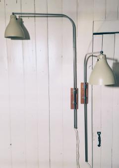 Greta Von Nessen Greta von Nessen Pair of Adjustable NS 945 Swing Arm Wall Lamps Circa 1950 - 1246986