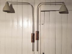 Greta Von Nessen Greta von Nessen Pair of Adjustable NS 945 Swing Arm Wall Lamps Circa 1950 - 1246994