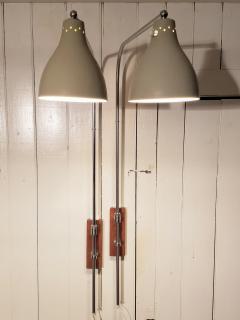 Greta Von Nessen Greta von Nessen Pair of Adjustable NS 945 Swing Arm Wall Lamps Circa 1950 - 1247002