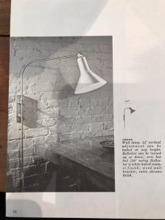 Greta Von Nessen Greta von Nessen Pair of Adjustable NS 945 Swing Arm Wall Lamps Circa 1950 - 1255692