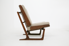 Grete Jalk Pair of Danish Mid Century armchairs by Grete Jalck in teak and cottone 1950 - 1563541