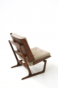Grete Jalk Pair of Danish Mid Century armchairs by Grete Jalck in teak and cottone 1950 - 1563544