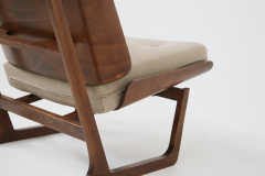 Grete Jalk Pair of Danish Mid Century armchairs by Grete Jalck in teak and cottone 1950 - 1563546