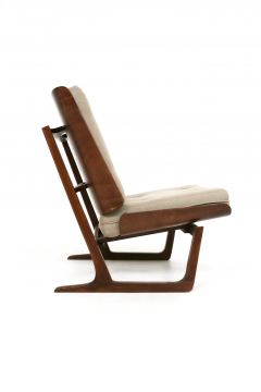 Grete Jalk Pair of Danish Mid Century armchairs by Grete Jalck in teak and cottone 1950 - 1563547