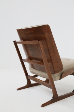 Grete Jalk Pair of Danish Mid Century armchairs by Grete Jalck in teak and cottone 1950 - 1563548