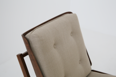 Grete Jalk Pair of Danish Mid Century armchairs by Grete Jalck in teak and cottone 1950 - 1563551