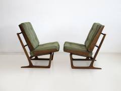 Grete Jalk Pair of Mahogany Lounge Chairs Attributed to Grete Jalk - 1625749