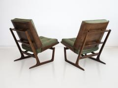 Grete Jalk Pair of Mahogany Lounge Chairs Attributed to Grete Jalk - 1625750