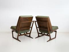 Grete Jalk Pair of Mahogany Lounge Chairs Attributed to Grete Jalk - 1625754