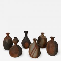 Group of six Contemporary Japanese Sake Bottles tokkuri  - 1919874