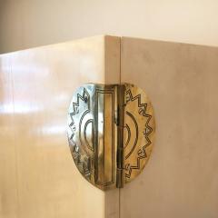 Guglielmo Ulrich 1930s Parchment Drinks Cabinet - 597256