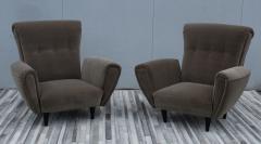 Guglielmo Ulrich 1940s Art Deco Italian Lounge Chairs - 2132122