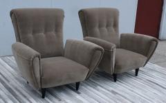 Guglielmo Ulrich 1940s Art Deco Italian Lounge Chairs - 2132125