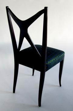Guglielmo Ulrich A Pair of Italian Modern Black Lacquer X Back Chairs Guglielmo Ulrich - 1340760