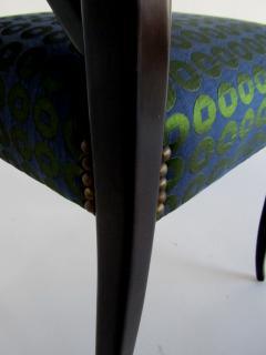 Guglielmo Ulrich A Pair of Italian Modern Black Lacquer X Back Chairs Guglielmo Ulrich - 1340764